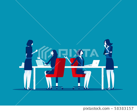 Business people working in modern office, work and 58383157
