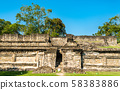 Ruins at El Tajin, a pre-Columbian archeological site in southern Mexico 58383886