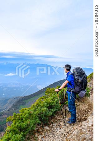 봄 타케 등산 : 청년 오두막에서 権現岳에 58384315