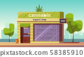 Cannabis store, marijuana products in organic shop 58385910