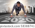 Businessman in new year 2020 concept 58388741