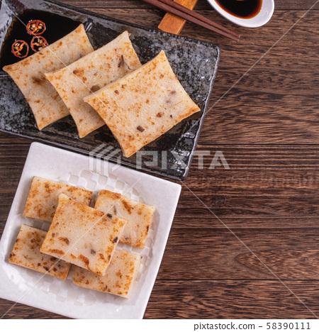 蘿蔔 糕 菜頭粿 새해 춘절 음식 New year turnip cake 루오뽀가오 무 케이크 58390111