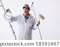 Painter working at construction site 58391667