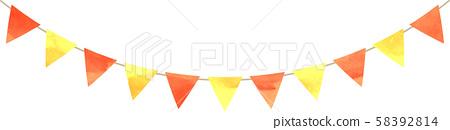 Flag_Triangle_Garland_Watercolor_Yellow_Orange 58392814