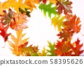 frame with colorful autumn leaves  58395626