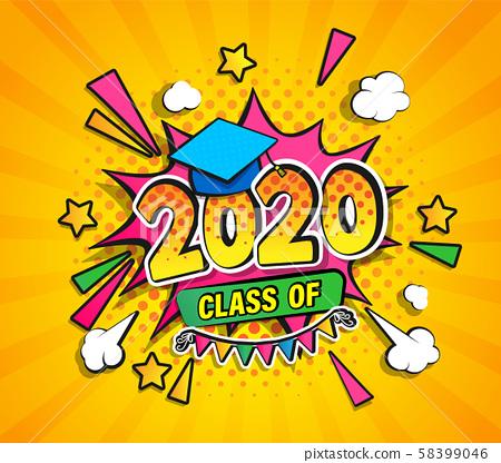 Class of 2020, graduation banner. 58399046