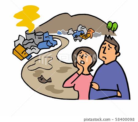 非法傾倒污染河 58400098