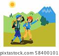 등산하는 커플 58400101