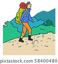 등산하는 남자 58400480