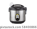 Electric rice cooker isolated on a white background 58400866