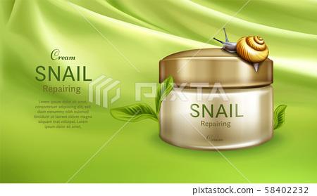 Repairing cream with snail mucus banner 58402232