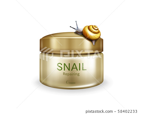 Skincare repairing cream with snail mucin 58402233