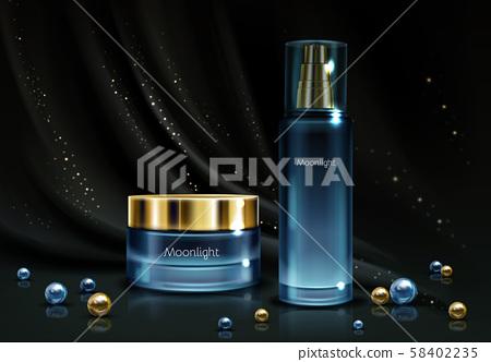 Womens cosmetics product realistic mockup 58402235