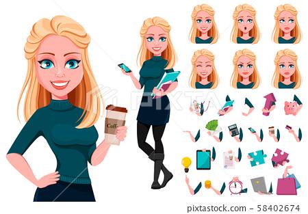 Young beautiful business woman 58402674