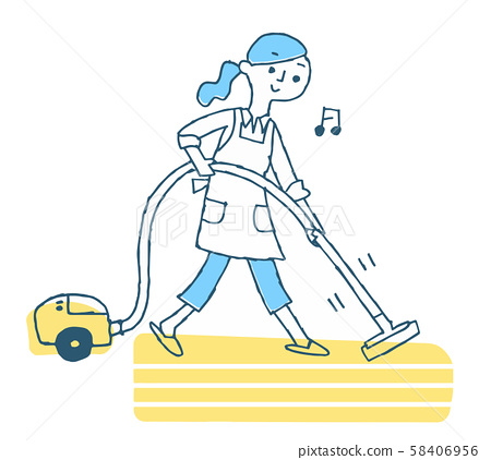 진공 청소기로 청소 여성 58406956