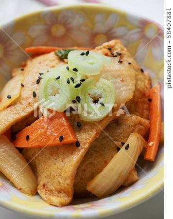 한국의 음식 어묵볶음  58407881