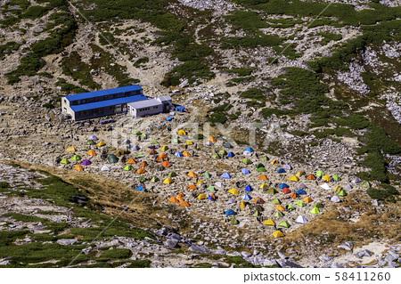 (나가노 현) 센죠 지키 칼 나카 다케에서 바라 보는 다채로운 텐트 장 58411260