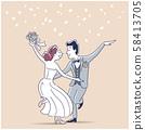 插圖素材:要結婚的男女 58413705