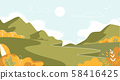 Mountain Landscape, Nature at Summer Background 58416425