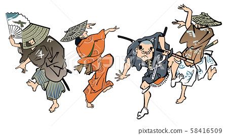 Ukiyo-e Dance 58416509