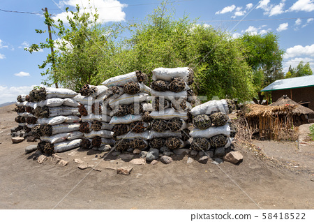 Charcoal for Sale, street of ethiopia 58418522