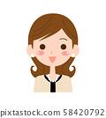 여자 얼굴 가슴 샷 58420792