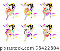 [ชุดภาพประกอบภาพประกอบการ์ดปีใหม่] เครื่องประดับ Battledore ขนนกผู้หญิงผมญี่ปุ่น 58422804