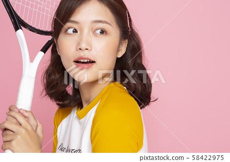 여성 스포츠 테니스 58422975