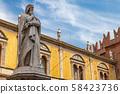 Statue of the great poet Dante Alighieri 58423736