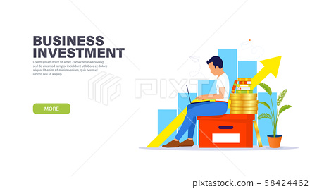 Business investment landing page concept. 58424462