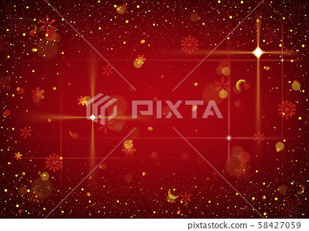 Red Abstract Christmas Background with Glitters 58427059