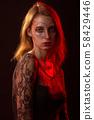 female halloween makeup 58429446