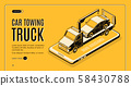 Car towing service app isometric website 58430788
