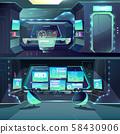 futuristic spaceship datacenter, interfaces and servers. 58430906