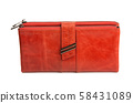 red wallet isolated 58431089