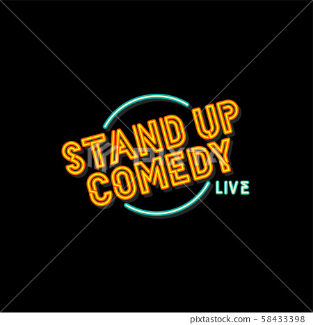 stand up comedy sign label vector artwork 58433398