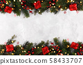 Christmas or New year boarder 58433707