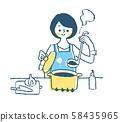 烹调蓝色的主妇 58435965