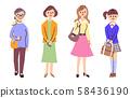 Women of various generations 58436190