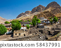 Ki village and monastery in Himalayas 58437991