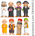Collection People of different religion set 58444051