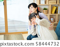 受到地震威脅的母子,高級女士,中級女士,2人 58444732