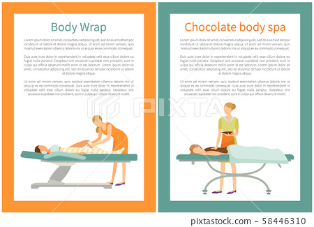 Body Chocolate Spa and Wrap of Legs, Women Vector 58446310