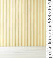 Background material stripe wallpaper and white wood 58450620