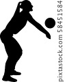 volleyball girl player. women group play 58451584