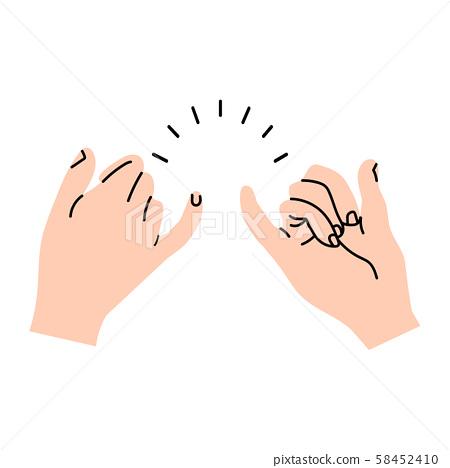 promise hands gesturing minimal vector 58452410