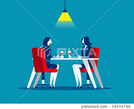 Business meeting in restaurant. Concept business 58454786
