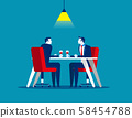 Business meeting in restaurant. Concept business 58454788