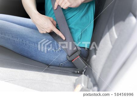 安全帶後座安全生命保護女人 58456996
