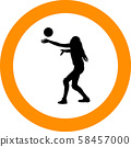volleyball girl player. women group play 58457000
